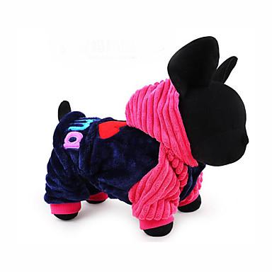 Hund Kapuzenshirts Overall Hundekleidung Buchstabe & Nummer Blau Rosa Baumwolle Kostüm Für Haustiere Herrn Damen Lässig / Alltäglich