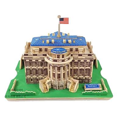 Puzzle 3D Puzzle Modelul lemnului Jucarii Dreptunghiular Clădire celebru Arhitectură 3D Lemn Lemn natural Ne Specificat Pentru copii