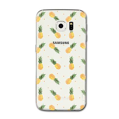 Недорогие Чехлы и кейсы для Galaxy S6 Edge-Кейс для Назначение SSamsung Galaxy S8 Plus / S8 / S7 edge Прозрачный / С узором Кейс на заднюю панель Фрукты Мягкий ТПУ