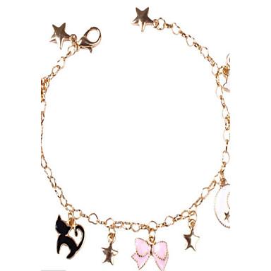 Dames Armbanden met ketting en sluiting Sieraden Modieus Legering Cirkelvorm Sieraden Voor Dagelijks gebruik Anders >>