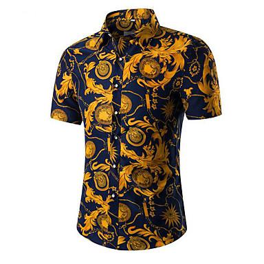 646a67ab7d economico Camicie da uomo-Camicia Per uomo Vintage Fantasia floreale /  Tribale Colletto classico -