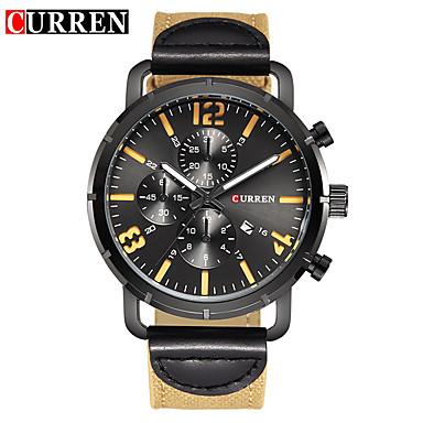 Heren Unieke creatieve horloge Polshorloge Dress horloge Modieus horloge Sporthorloge Chinees Kwarts Kalender Waterbestendig Grote