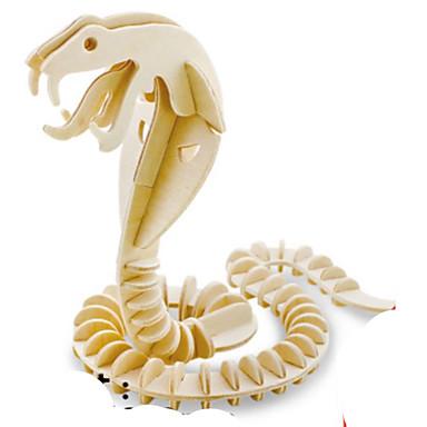 قطع تركيب3D تركيب تركيب معدني النماذج الخشبية مجموعات البناء حيوان 3D اصنع بنفسك خشب الخشب الطبيعي صبيان للجنسين هدية