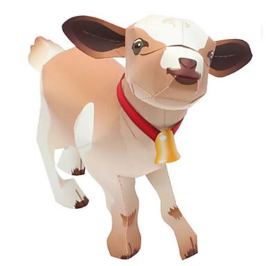 3D - Puzzle Papiermodel Spielzeuge Quadratisch Schaf 3D Tiere Heimwerken Simulation Hartkartonpapier keine Angaben Stücke