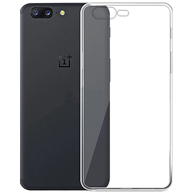 Case For OnePlus Transparent Back Cover Transparent Soft TPU for One Plus 5