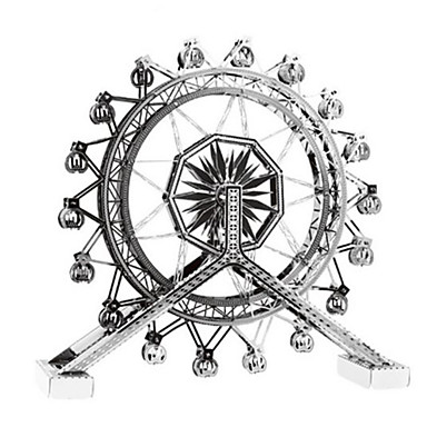Spielzeug-Autos 3D - Puzzle Holzpuzzle Metallpuzzle Kreisförmig Panzer Burg Berühmte Gebäude Musik Instrumente Architektur 3D Aluminium