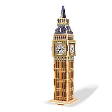 قطع تركيب3D تركيب الخشب نموذج ألعاب بناء مشهور معمارية 3D اصنع بنفسك خشب غير محدد قطع