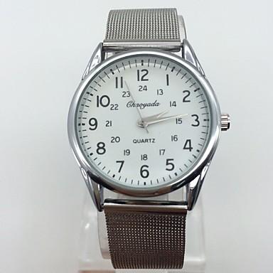 Bărbați Ceas Elegant  Ceas de Mână Quartz Metal Bandă Vintage Casual Cool Argint