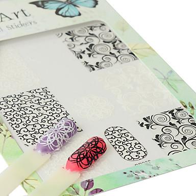 1 Muster 3D Nagel Sticker Aufkleber Bastelmaterial 3-D Mädchen & Junge Frauen Modisch Alltag Gute Qualität