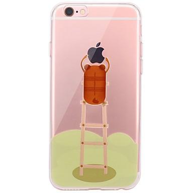Fall für iphone 7 6 spielen mit Apfel-Logo-Karikatur tpu weichen ultradünnen rückseitigen Abdeckungsfallabdeckung iphone 7 plus 6 6s plus