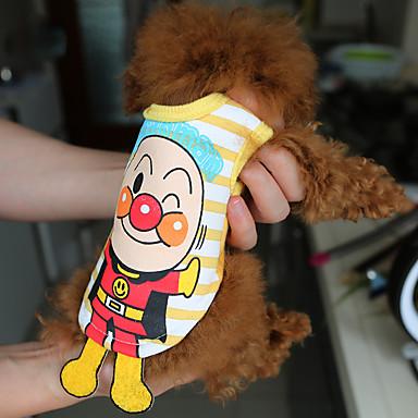 قط حيوانات أليفة كلب قميص ملابس الكلاب التنفس إمكانية جميل كاجوال/يومي حلو محبوب كارتون كوستيوم للحيوانات الأليفة