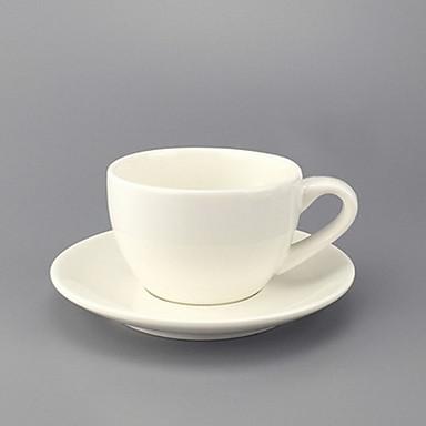 Keramische eenvoudige creatieve Europese koffiekopje en schotel