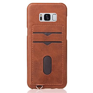 hoesje Voor Samsung Galaxy S8 Plus S8 Kaarthouder Achterkant Effen Kleur Hard PC voor S8 Plus S8 S7 edge S7
