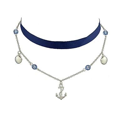 Pentru femei Coliere Choker - De Bază, stil minimalist, Modă Bej, Albastru Deschis Coliere Pentru Zilnic, Casual, Dată
