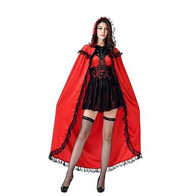 Märchen Cosplay Cosplay Kostüme Maskerade Frau Halloween Karneval Fest / Feiertage Halloween Kostüme Rot + schwarz Vintage