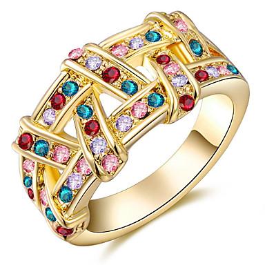 Pentru femei Verighete Cristal Personalizat Lux Clasic De Bază Sexy Iubire Modă Cute Stil Elegant Cristal Aliaj Rotund Geometric Shape