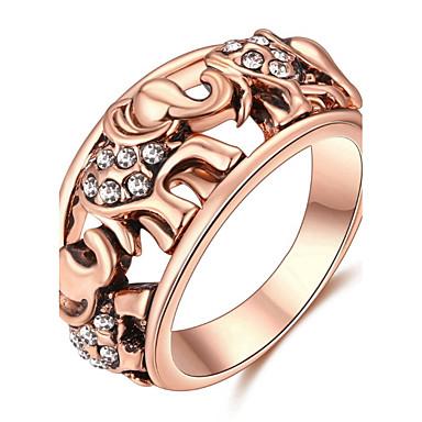 Dames Luxe Legering Olifant Bandring - Dier Gepersonaliseerde / Luxe / Klassiek Zilver / Goud Rose Ring Voor Kerstmis / Feest / Verjaardag