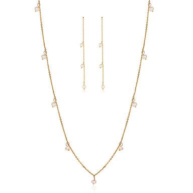 Pentru femei Cercei Picătură Lănțișor Perle Perle Plastic Modă stil minimalist Cadou Zilnic Costum de bijuterii