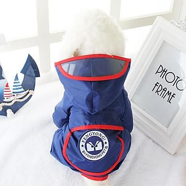 كلب معطف المطر ملابس الكلاب كاجوال/يومي هندسي أحمر أزرق كوستيوم للحيوانات الأليفة