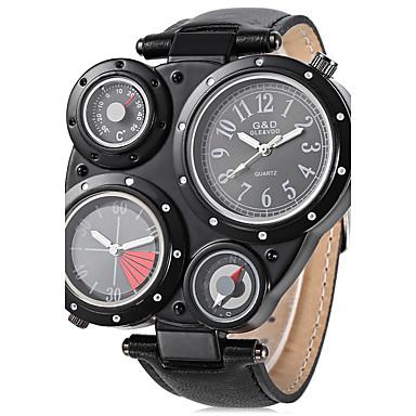 JUBAOLI Bărbați Ceas de Mână Ceas La Modă Ceas Sport Ceas Casual Chineză Quartz Mare Dial Zone Duale de Timp  Oțel inoxidabil Bandă