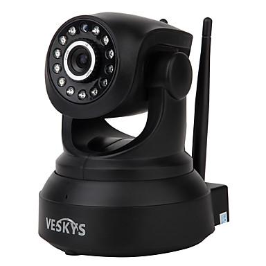 veskys® 720p hd wi-fi ip camera w / 1.0mp telefon inteligent de monitorizare de la distanță de sprijin fără fir 64gb tf card