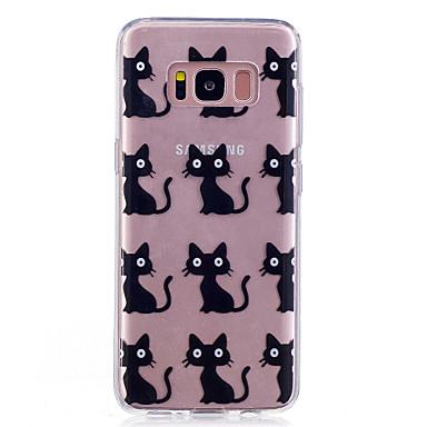 Hülle Für Samsung Galaxy S8 Plus S8 IMD Transparent Muster Rückseitenabdeckung Anwendung Katze Weich TPU für S8 S8 Plus