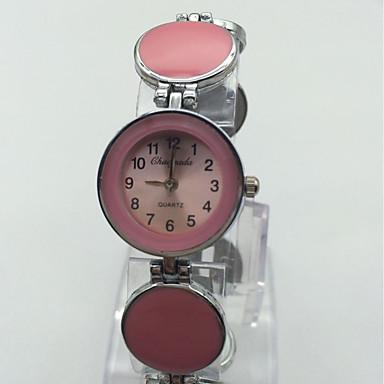 Pentru femei Ceas de Mână Ceas Brățară Chineză Quartz Aliaj Bandă Vintage Punct Casual Roșu Pink