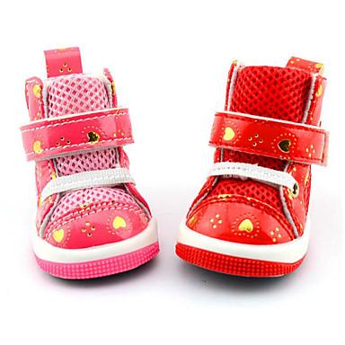 Hund Schuhe und Stiefel Lässig/Alltäglich Wasserdicht Herzen Rot Rosa Für Haustiere