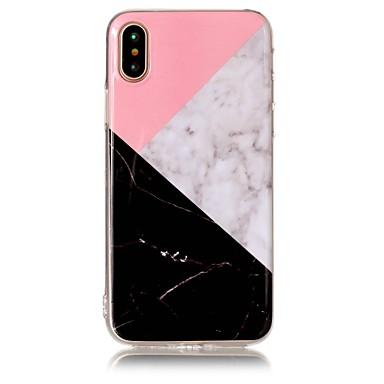 Pentru iPhone X iPhone 8 iPhone 8 Plus Carcase Huse IMD Carcasă Spate Maska Marmură Moale TPU pentru Apple iPhone X iPhone 8 Plus iPhone