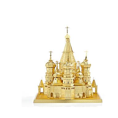 Puzzle Puzzle Metal Clădire celebru Biserică 3D Reparații Aliaj 6 ani și peste