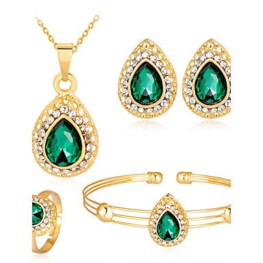 7a71390ce520 Γυναικεία Cubic Zirconia Αχλάδι Κοσμήματα Σετ Ζιρκονίτης