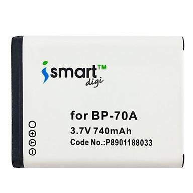 Ismartdigi bp70a 3.7v baterie de 740 mAh pentru Samsung samsung slb-70a bp70a es65 es67 es70 es73