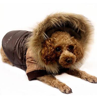 Hond Jassen Donzen jacks Hondenkleding Kleurenblok Oranje Koffie Rood Katoen Dons Kostuum Voor huisdieren Heren Dames Casual/Dagelijks