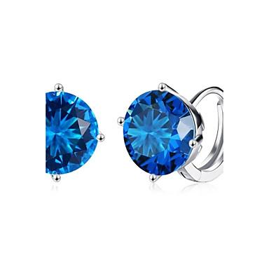 Pentru femei Cercei Rotunzi  Cercei cu Clip Diamant sintetic Zirconiu Cubic Design Basic stil minimalist Clasic La modă Vintage Bohemia