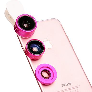 Mobiele telefoonlens Fish-eye lens Groothoeklens Macrolens Aluminium 10X en groter 180