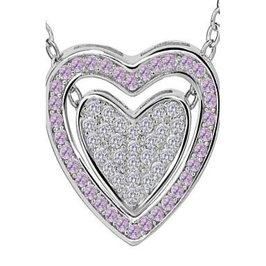 للمرأة قلائد الحلي تقليد الماس Heart Shape سبيكة موضة شخصية أسلوب بسيط مجوهرات من أجل زفاف حزب حفلة ليلية