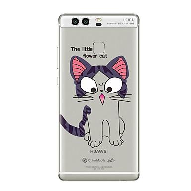 Caz pentru huawei p8 lite2017 p10 acoperiș transparent caz pisică moale tpu pentru p10 lite p10 plus p9 plus p9 lite p9 p8 lite p8 mate9