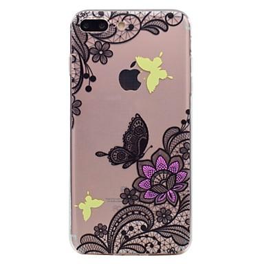 Pentru Apple iphone 7 7plus caz telefon tpu material fluture flori model pictat telefon caz 6s plus 6plus 6s 6 se 5s 5