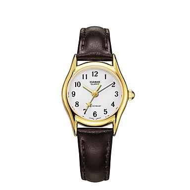 Casio Damen Modeuhr Armbanduhr Armbanduhren für den Alltag Japanisch Quartz Wasserdicht Leder Band Bettelarmband Bequem Elegante Braun