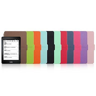 verlegen beer ™ 6 inch lederen beschermhoes voor Amazon Kindle voyage 2014 e-book reader assorti kleur
