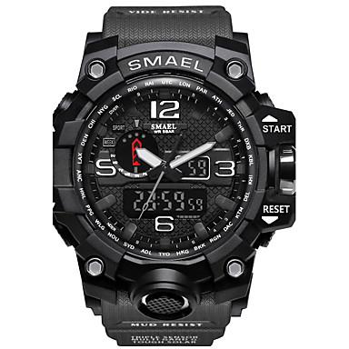 levne Pánské-SMAEL Pánské Sportovní hodinky Vojenské hodinky Inteligentní hodinky Křemenný Digitální Silikon Vícebarevný 50 m Voděodolné Alarm Kalendář Analog - Digitál Přívěšky Klasické Na běžné nošení maskován