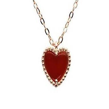 Pentru femei Coliere cu Pandativ Onyx Heart Shape Plastic La modă Personalizat Bijuterii Pentru Nuntă Petrecere Zilnic