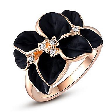 Pentru femei Verighete Cristal Zirconiu Cubic Personalizat Lux Clasic De Bază Sexy Iubire Modă Cute Stil Elegant Cristal Aliaj Floare