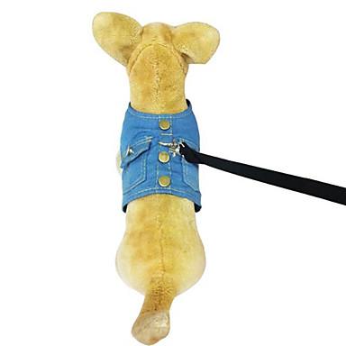 Câine Hamuri Îmbrăcăminte Câini Cowboy Solid Albastru Albastru Deschis