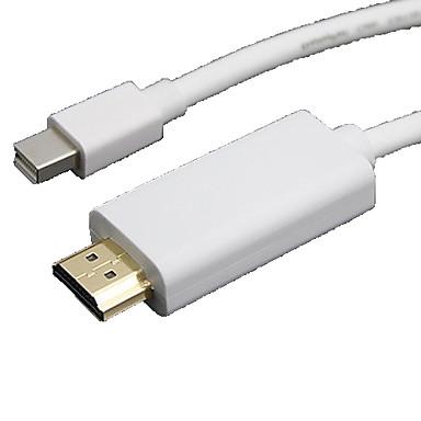 1.8m 5.9ft mini DisplayPort αρσενικό σε HDMI αρσενικό μίνι καλώδιο σύνδεσης οθόνης DisplayPort για επιφάνεια Pro2