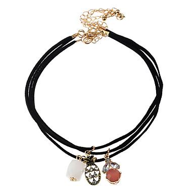 Damen Gestalten Personalisiert Böhmische nette Art Modisch Halsketten Anhängerketten Acryl Harz Aleación Halsketten Anhängerketten