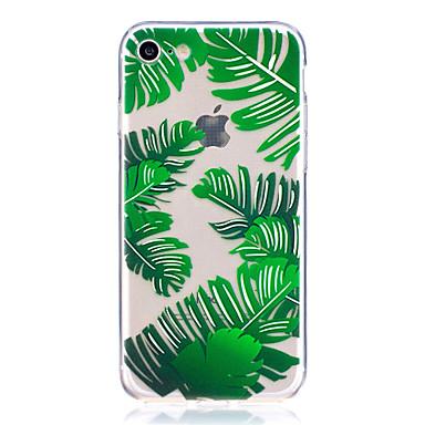 Caz pentru iphone 7 7 plus caseta de acoperire banana frunze model de înaltă transparentă tpu material scratchable caz telefon pentru