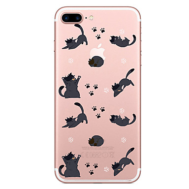 Hülle Für Apple iPhone 7 Plus iPhone 7 Transparent Muster Rückseite Tier Weich TPU für iPhone 7 Plus iPhone 7 iPhone 6s Plus iPhone 6s