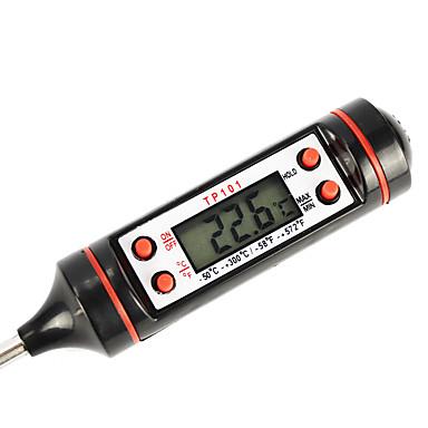 digitaal scherm thermometer tester voor het koken (zwarte kleur)