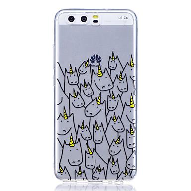 Caz pentru huawei p8 lite (2017) p10 carcasa caz unicorn model mare transparent tpu material anti-zgârietură caz telefon pentru huawei